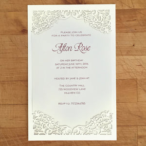 Spring Vines Flat Invitation (A9)