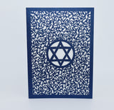 Star of David Folded Card (A7)