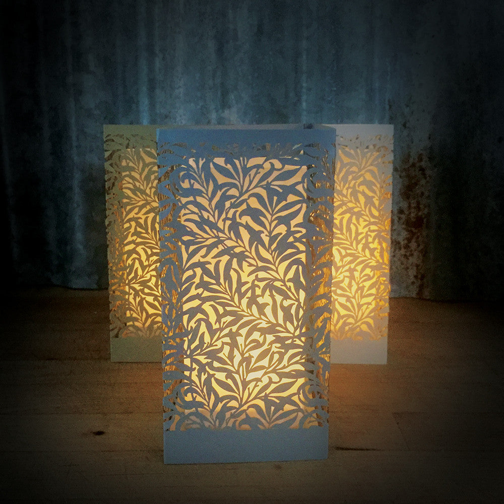 Laser Cut Paper Lantern Willow Paper Orchid