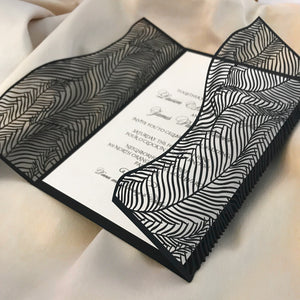 Wispy Palms Gatefold Invitation (A9)
