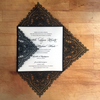 Chantilly Lace Square Invitation