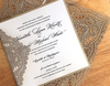 Chantilly Lace Square Invitation Sample
