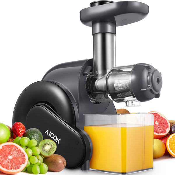 AICOK Juicer, Masticating Juice Extractor with Reverse Function, Cold Press Juicer with Juice Jug and Brush for High Nutrient Juice is $120 (14% off)