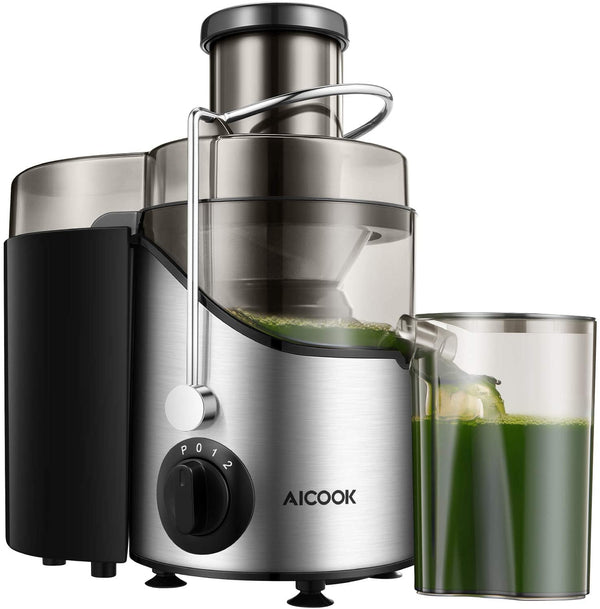 AICOOK AMR526 Centrifugal Juicer, Juice Extractor, Juicer Machine with 3'' Wide Mouth, 3 Speed Juicer for Fruits and Vegs, with Non-Slip Feet, BPA-Free, Mode 526 is $55 (45% off)