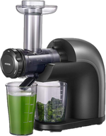 AICOOK High Nutrition Cold Press Juicer, No Filter Design with Less Oxidation, Juice Recipes for Whole Vegetables and Fruits, Multiple Modes for Different Flavors