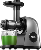 AICOK Slow Masticating juicer Extractor, Cold Press Juicer Machine, Quiet Motor, Reverse Function, High Nutrient Fruit and Vegetable Juice with Juice Jug & Brush for Cleaning, Galaxy Grey