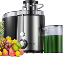 AICOOK Centrifugal Juicer Machine, Juice Extractor, 3''Wide Mouth Juicer with 2 Speeds for Fruits and Vegs, Anti-drip, Stainless Stee