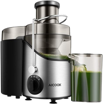 AICOOK Centrifugal Juicer, Juice Extractor, Juicer Machine with 3'' Wide Mouth, 3 Speed Juicer for Fruits and Vegs, with Non-Slip Feet, BPA-Free