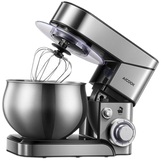 AICOOK 5.8 QT Stand Mixer, 600W, 6-Speed Stainless Steel Mixer, Electric Cooking Mixer for dough & cake, Dishwasher-safe