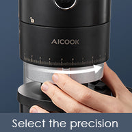 aicok, aicook coffee grinder, low noise, portafilter bracket, stainless steel grinder, perfect service