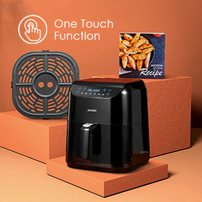 aicok, aicook, air fryer, one touch led display, non-stick coatinf, quiet environment