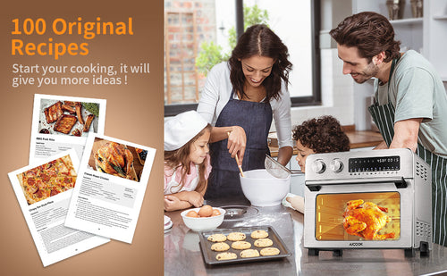 aicok, aicook air fryer oven, large capacity, dishwasher safe, recipe, cookbook