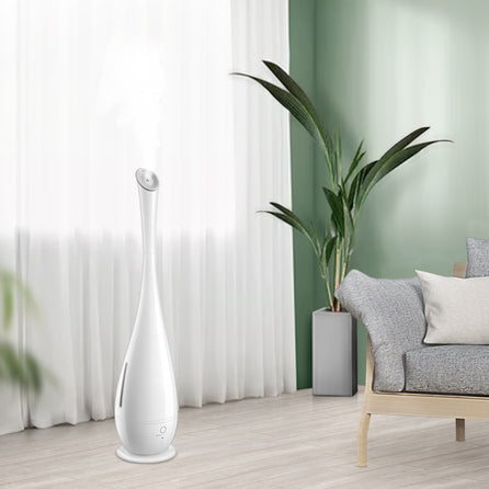 iTvanila Smart Cool Mist Humidifiers for Covid, Large Room Use, 5L Floor Humidifiers for Bedroom Office with Remote Control, Oil Diffuser Tray, Last up to 50 Hours