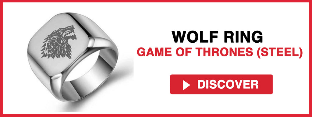 WOLF RING GAME OF THRONES (STEEL)