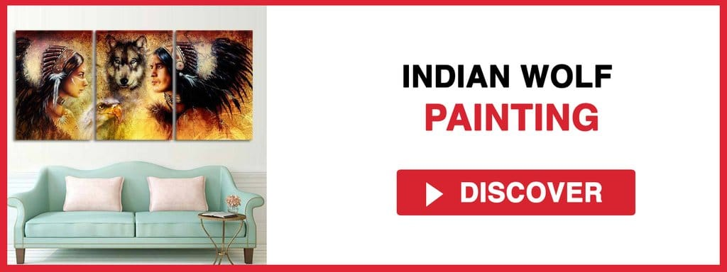 INDIAN WOLF PAINTING