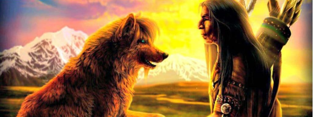 wolf and the Amerindian