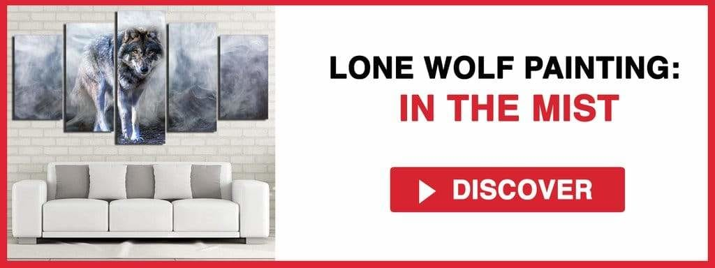 LONE WOLF PAINTING: IN THE MIST