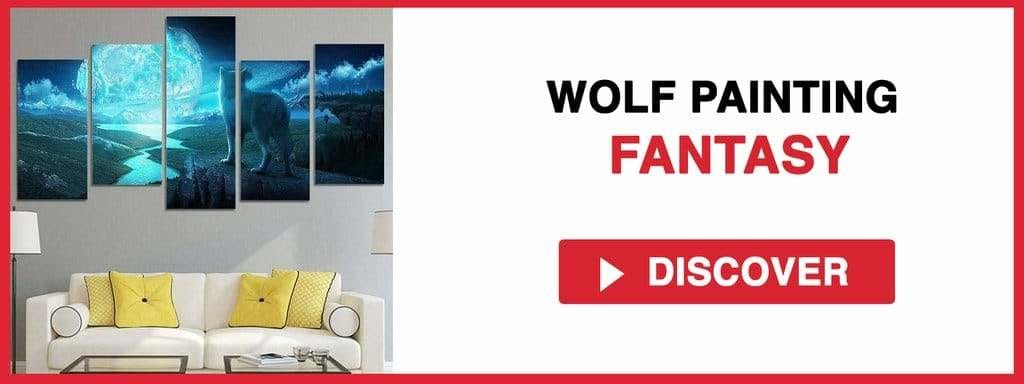 WOLF PAINTING FANTASY