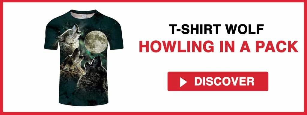 TSHIRT WOLF HOWLING IN A PACK