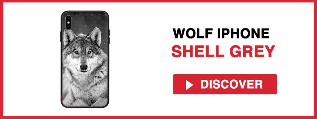 WOLF IPHONE SHELL GREY