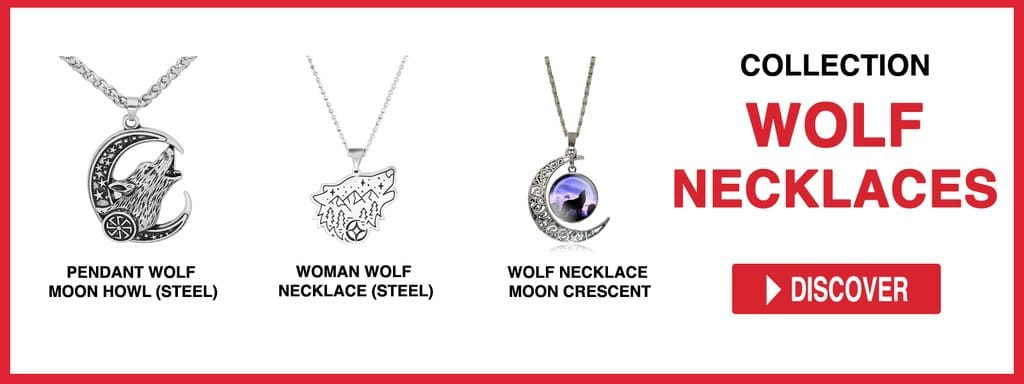 WOLF NECKLACES AND PENDANTS