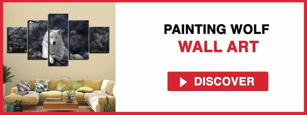 PAINTING WOLF WALL ART