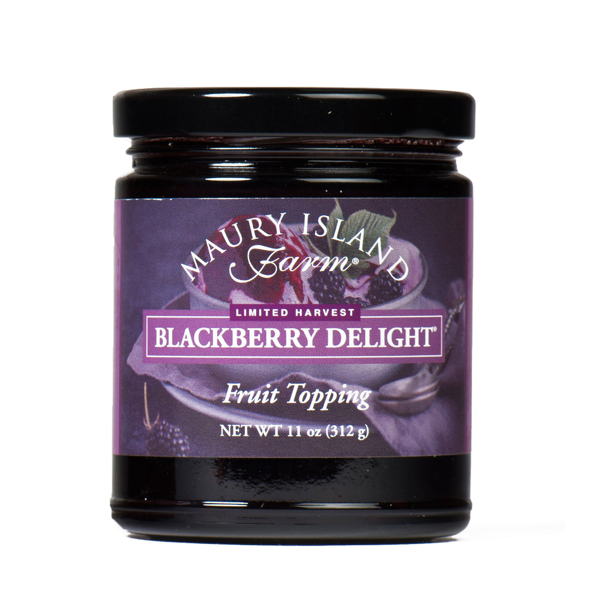 Limited Harvest Blackberry Delight Fruit Topping 11 Ounce Jar from Maury Island Farm