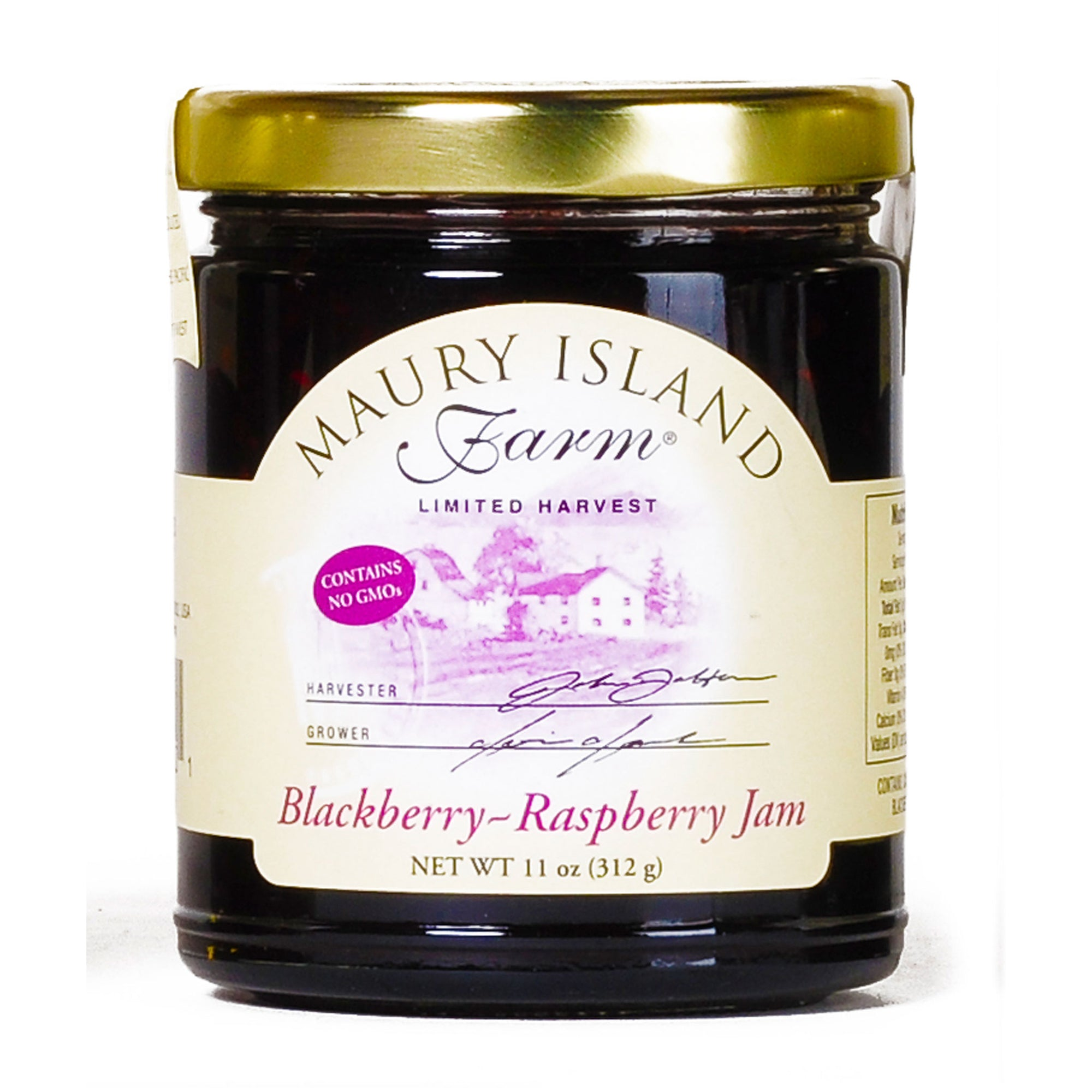Maury Island Farm Limited harvest GMO-Free Blackberry-Raspberry Jam 11 Ounce Jar