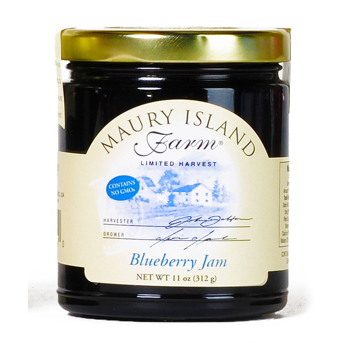 Maury Island Farm Limited Harvest GMO-Free Blueberry Jam 11-Ounce Glass Jar