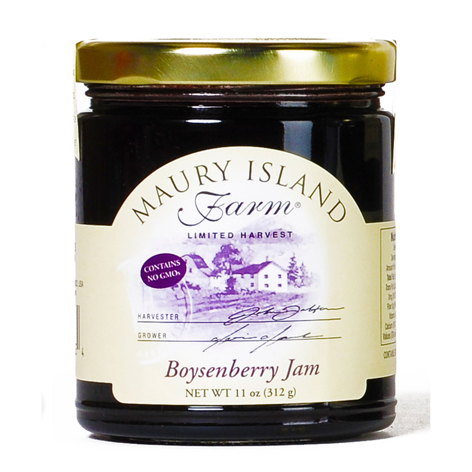 Maury Island Farm Limited Harvest Non-GMO Boysenberry Jam 11-Ounce Glass Jar