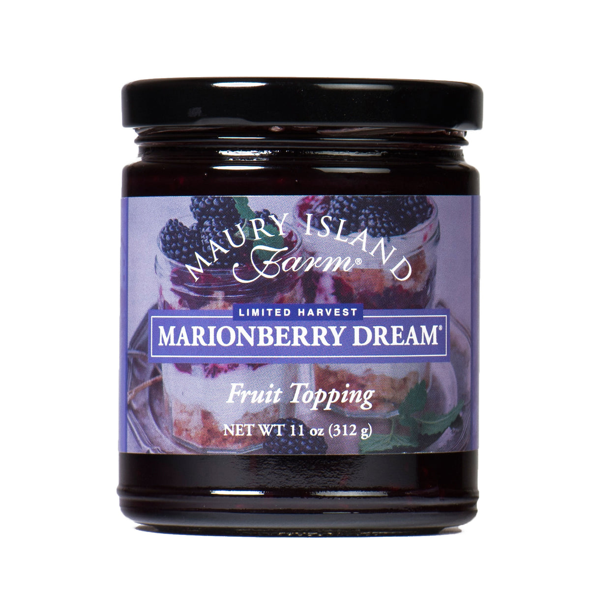 Maury Island Farm Limited Harvest Marionberry Dream Fruit Topping 11 Ounce Glass Jar