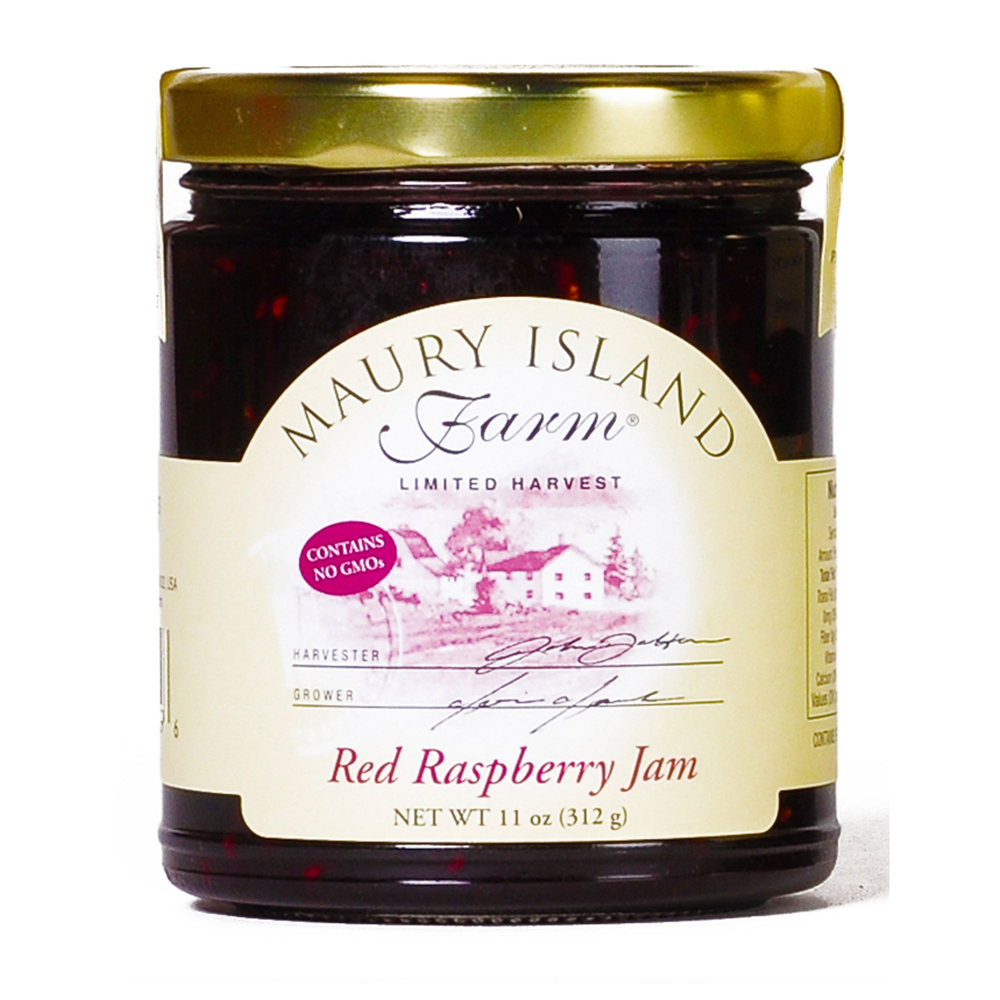 Maury Island Farm Limited harvest Red Raspberry Jam Contains No GMOs 11-Ounce Glass Jar