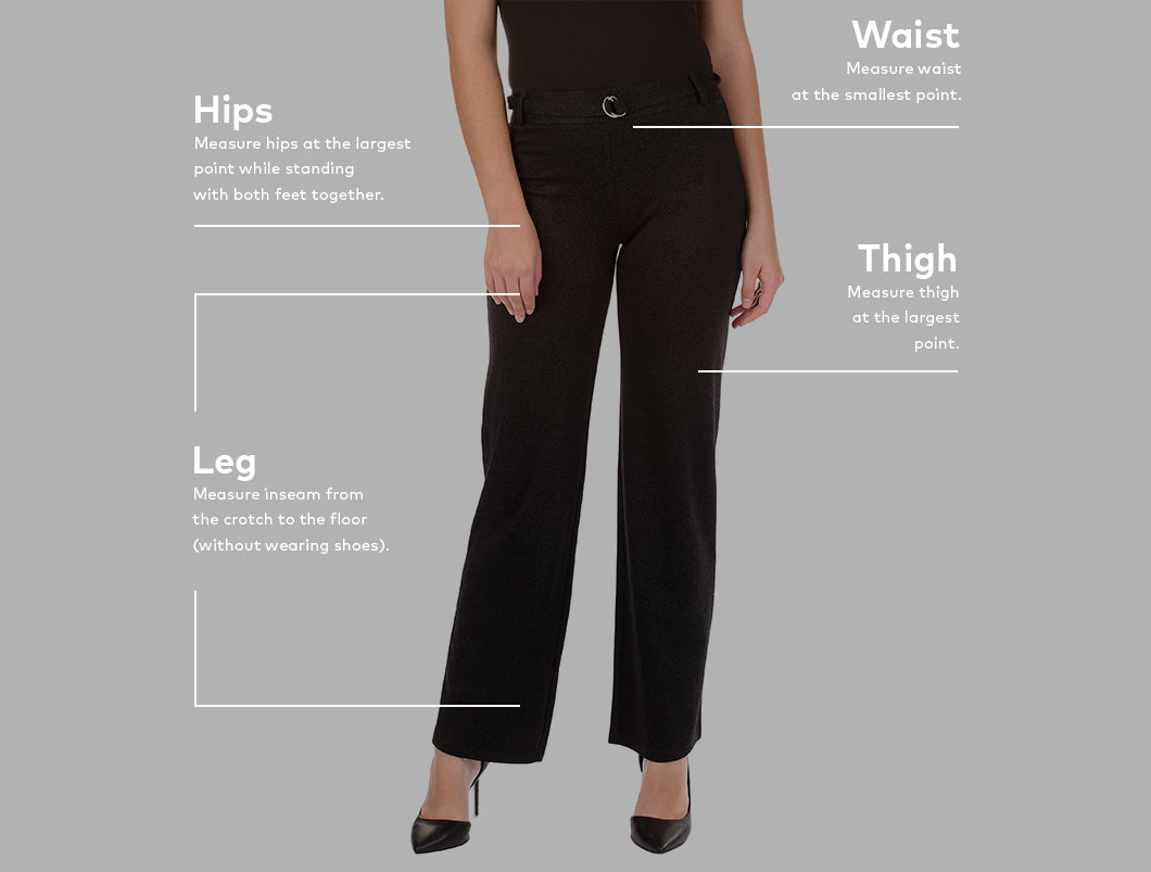 Sizing guide - Bottoms