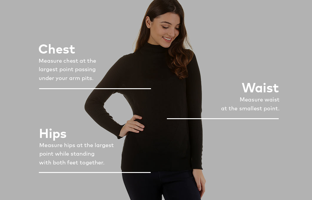 Sizing guide - Tops