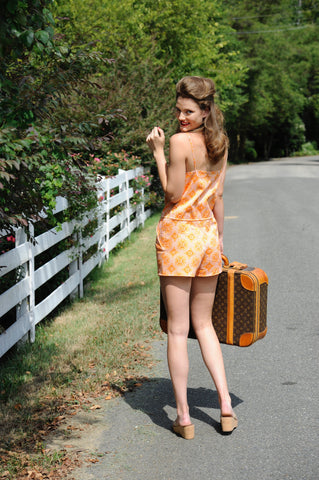Rosie Romper in JR Orange