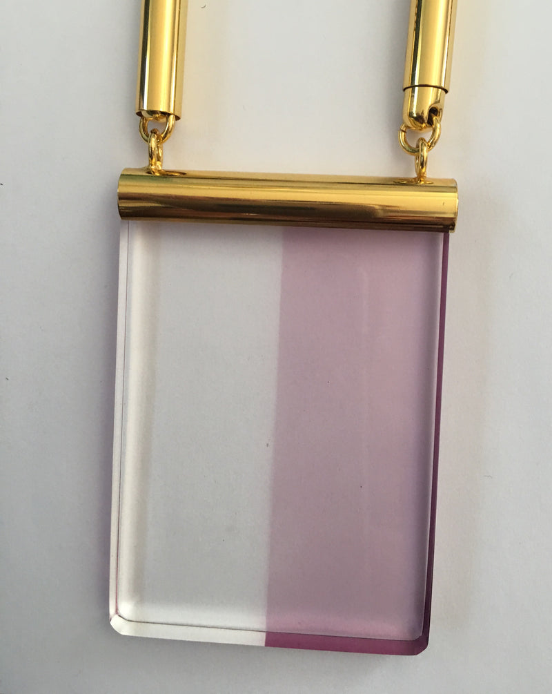 The Eleanor Lucite Necklace in Lavender