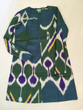 The Beatle Dress in Multicolor Ikat- only 4 left!