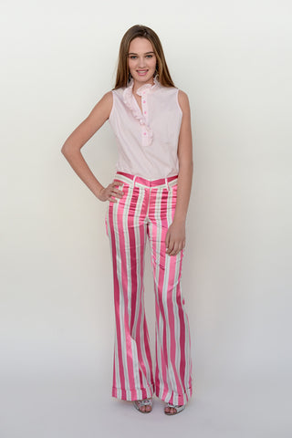 The Wyatt Trousers in Pink Stripe