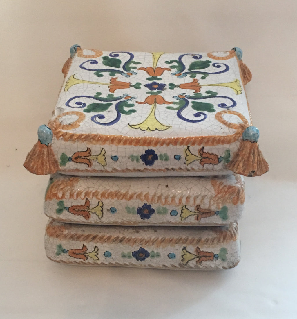 Italian Ceramic Pillow Seat