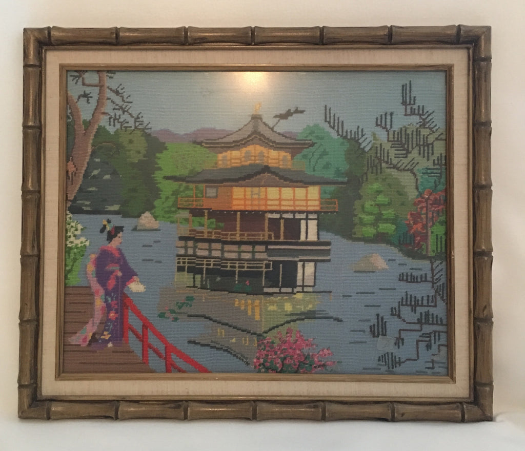 Chinese Needlepoint Wallhanging