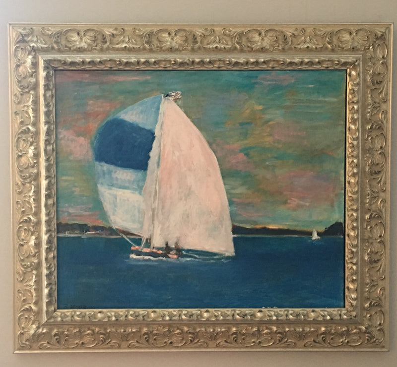 Sailing painting by Ron Demetro