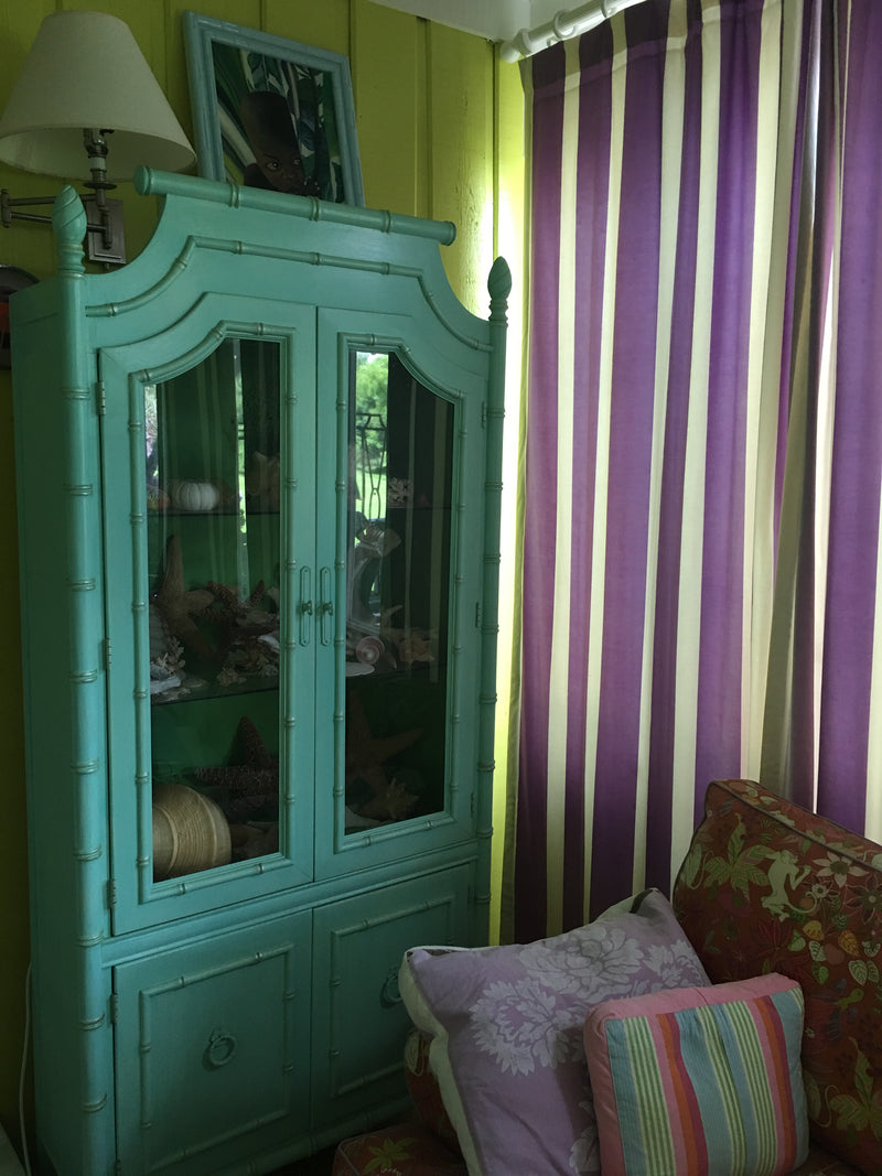 Custom painted Chinoiserie Cabinet