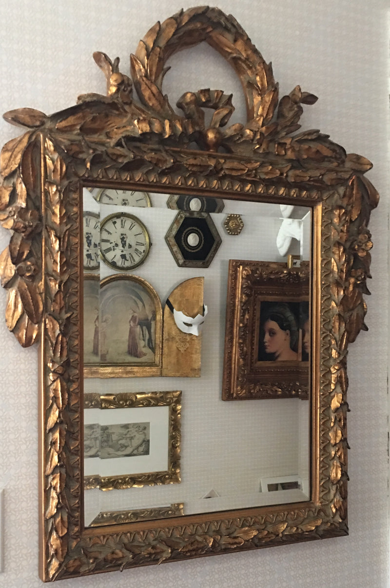 Ornate French Wreathe Mirror