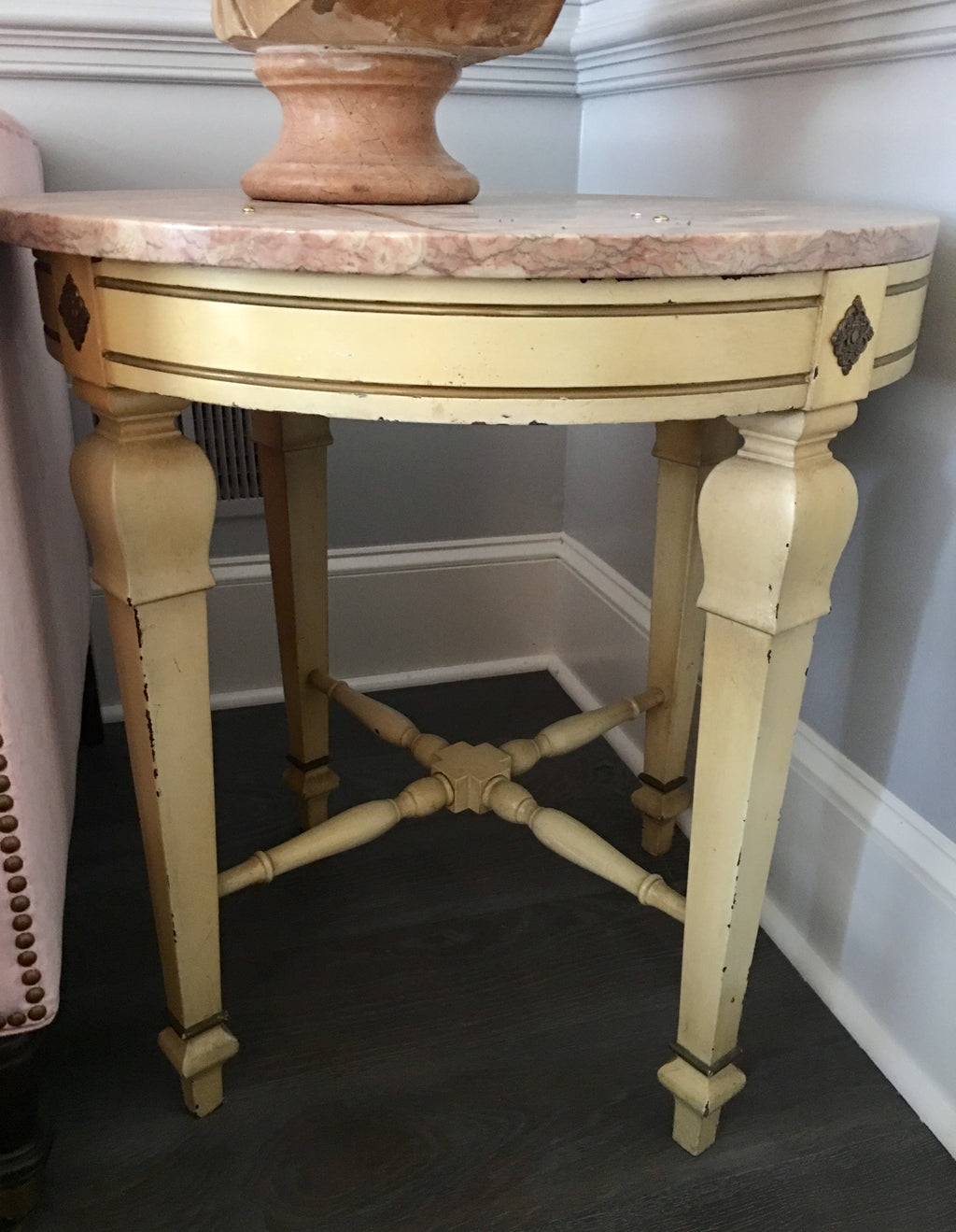 Table with Pink Marble