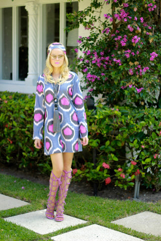 The Beatle Dress in Multicolor Ikat- only 3 left !