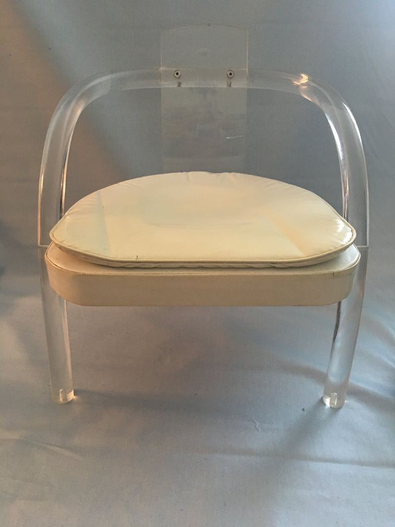 Vintage Lucite Ghost Chair