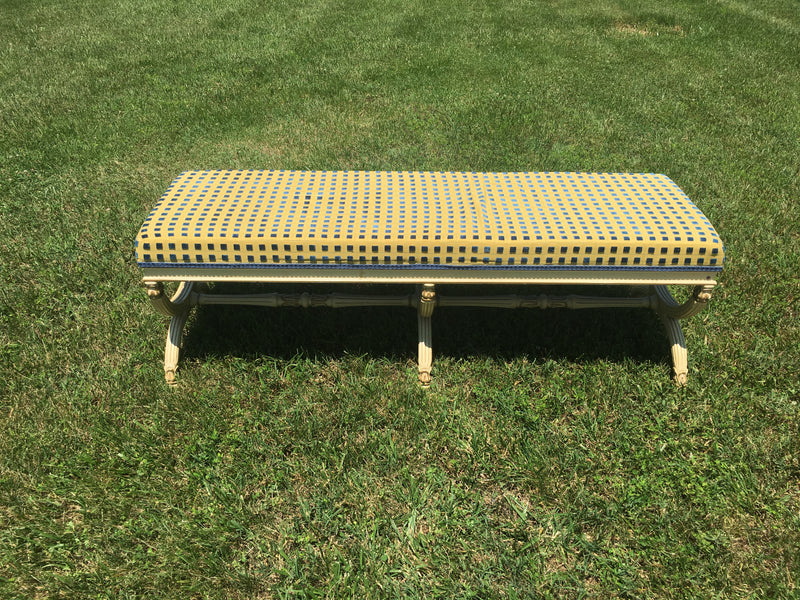 Long Bench with Scalamandre Fabric