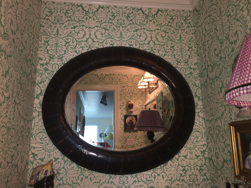 John Hamm kind of  Handsome Oval Mirror