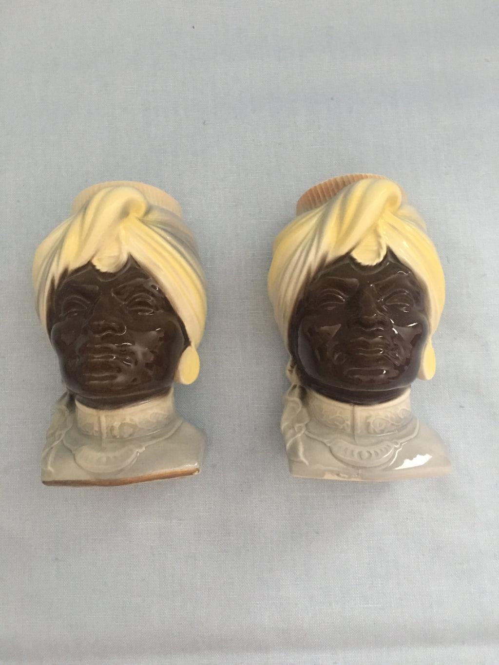 Pair of Vintage Blackamoor wall pockets