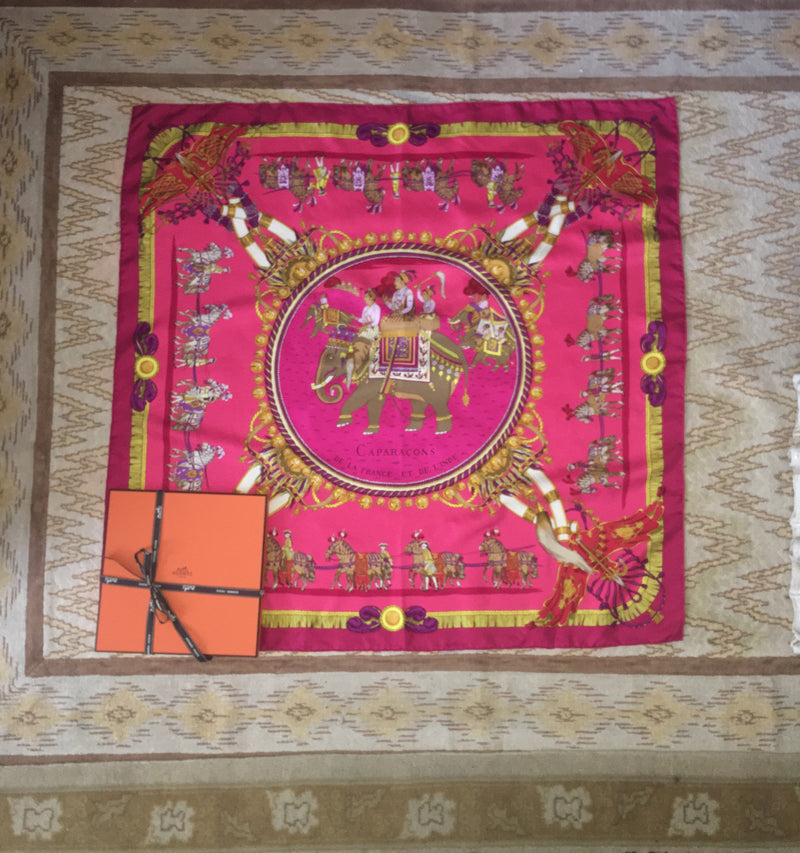 Vintage Hermes Scarf with box
